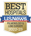One of the best national hospitals, ranked in pulmonology by U.S. News and World Report.