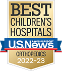 One of the best children's hospitals, ranked in orthopedics by U.S. News and World Report.