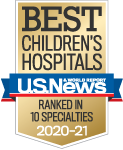 One of the best children's hospitals, ranked in 9 specialties by U.S. News and World Report.